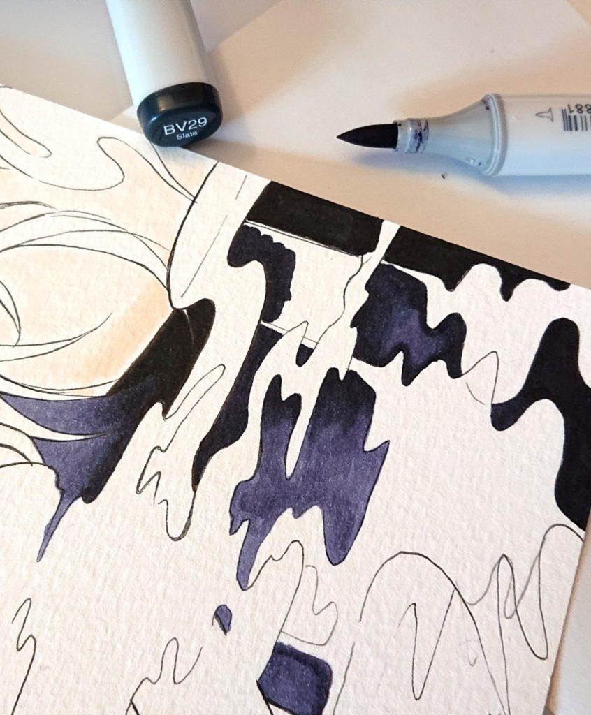 illustration copic Dédé & Mumu