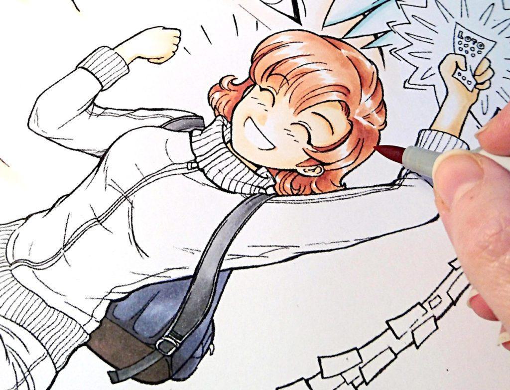 Choisir le bon papier pour marqueurs à alcool kuru dessin manga 42
