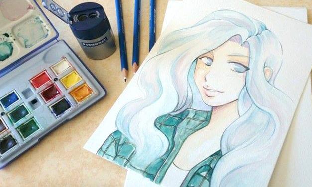 Démo #1 : Aquarelle sur papier Montval