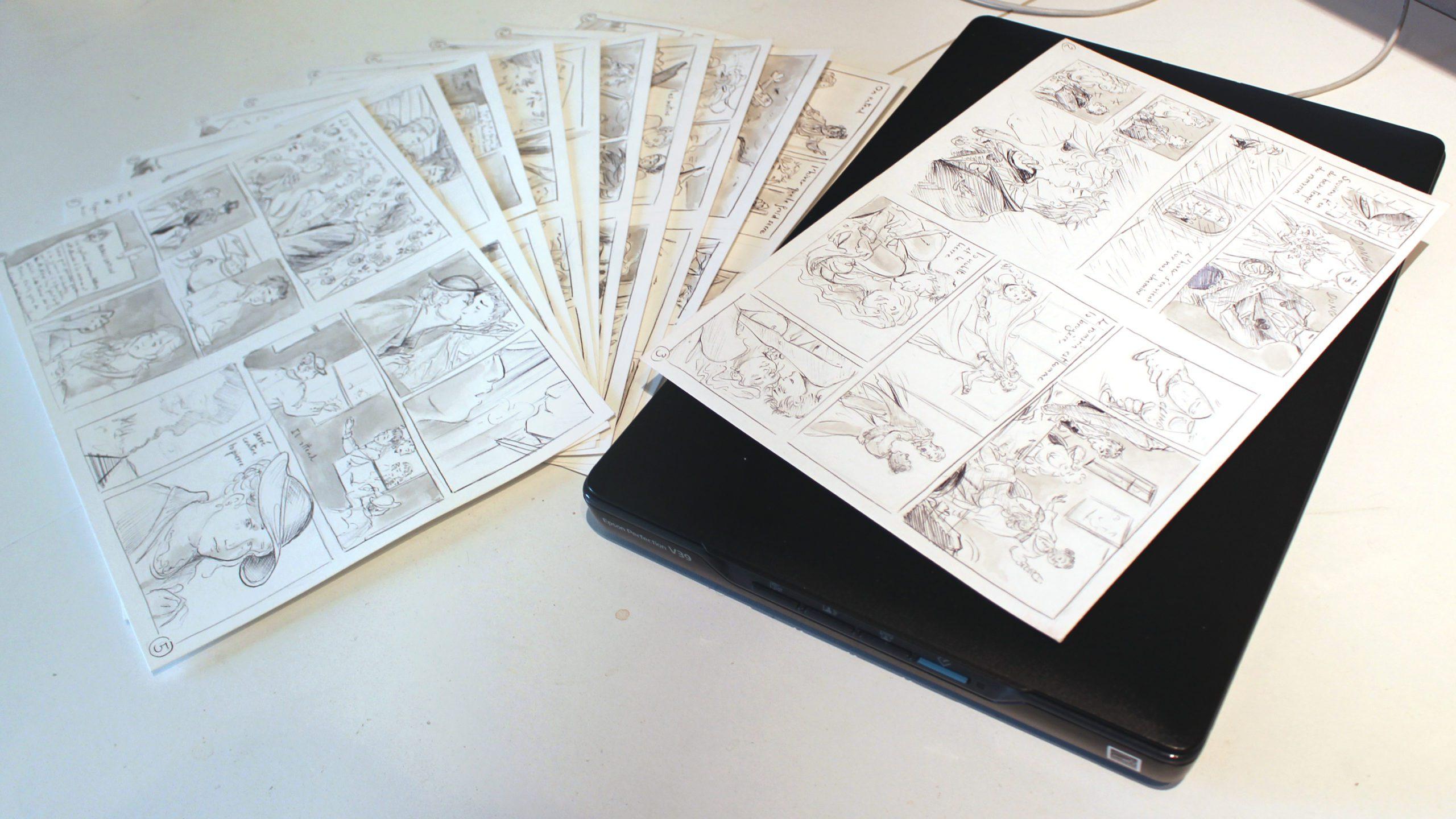 Scanner ses pages de manga en noir et blanc