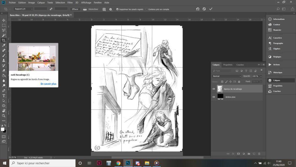 Scanner et retoucher ses pages de manga en 5 étapes recadrage image