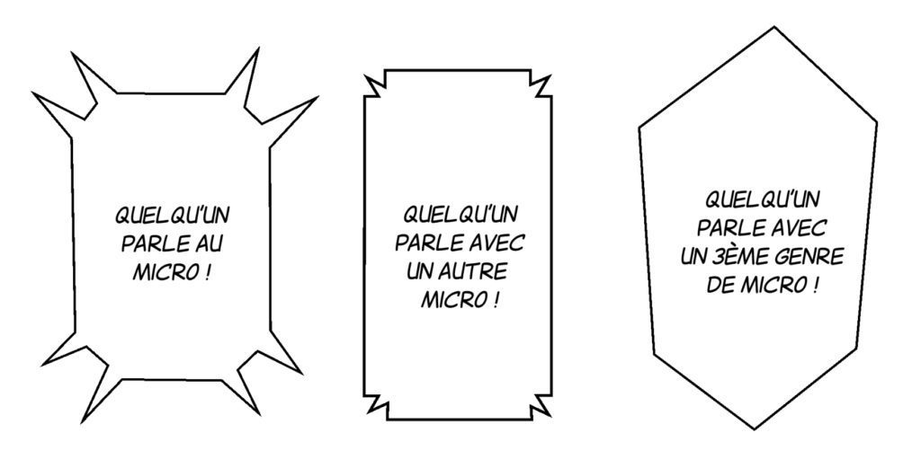 Bulle texte au micro