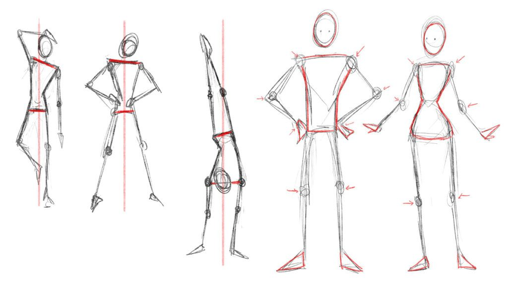 Dessiner l'anatomie de personnage et ses positions mangadraft blog banner anatomy poses