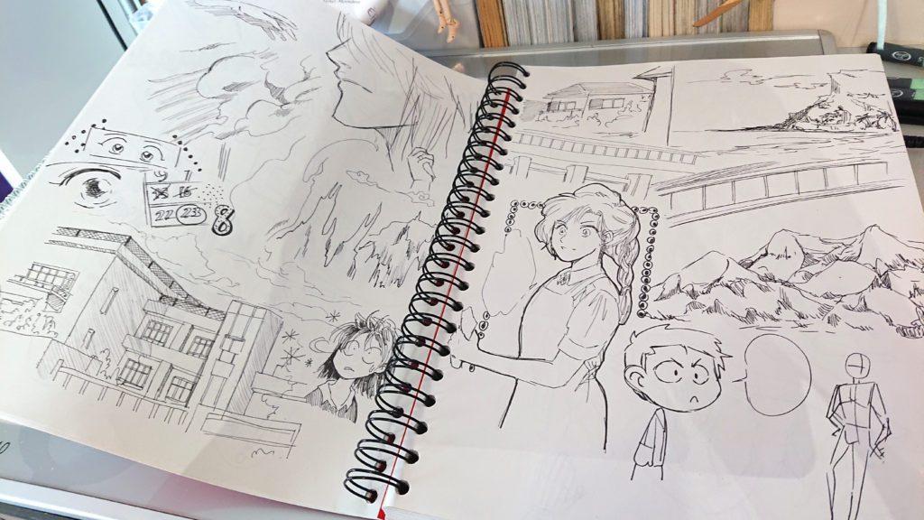 copie scène manga kuru