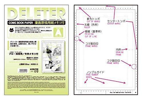 deleter papier manga type A 110g