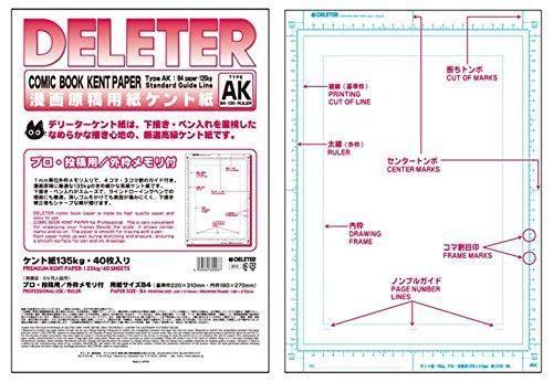 deleter papier manga type AK