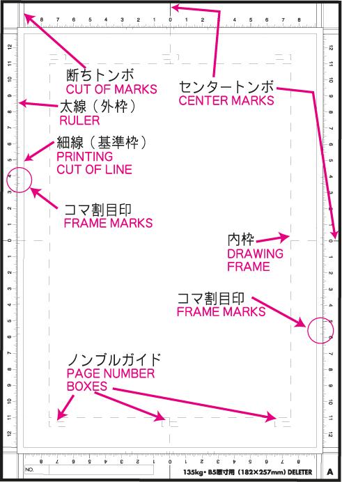 Le papier manga Deleter typamarks
