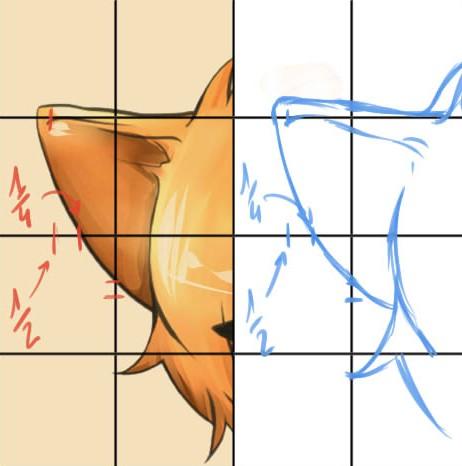 Exercice #3 : Dessiner avec une grille de proportions