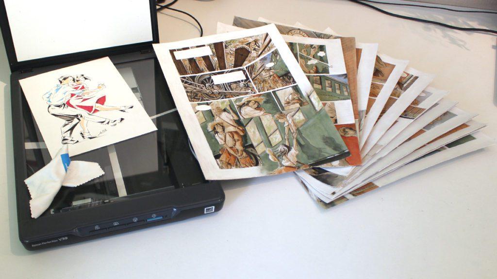 exemples d'illustration et BD couleur à scanner et retoucher