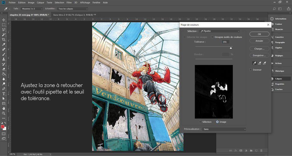 """L'outil """"plage de couleurs"""" peut être utile pour retoucher son image sur Photoshop !"""