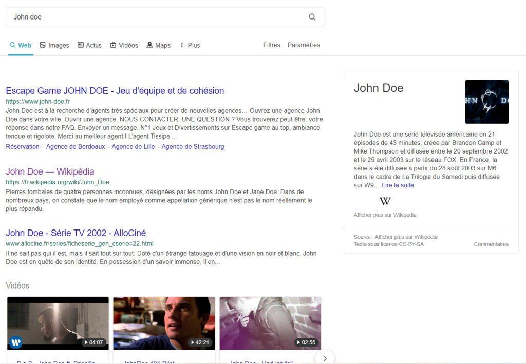 John Doe est une association de nom et prénom utilisée pour nommer les personnes non identifiées au USA !