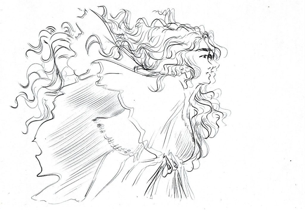 Un exemple de différence de ratio entre la version sur écran et la version papier d'un dessin réalisé avec le Scribo de Huion.