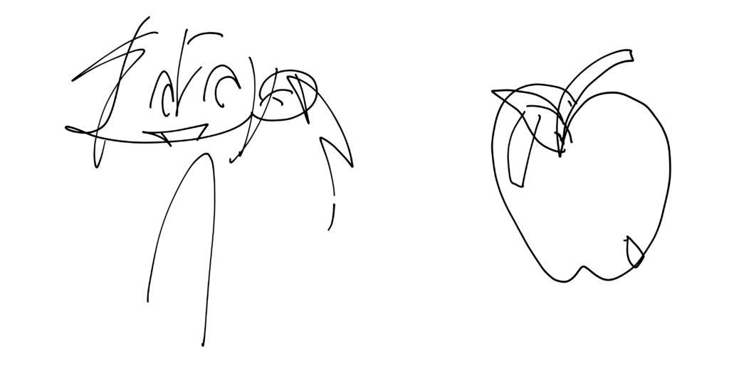 exercice dessiner sans regarder exemple