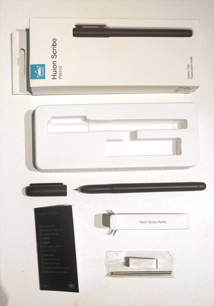 unboxing du stylo-stylet Scribo PW310 de chez Huion