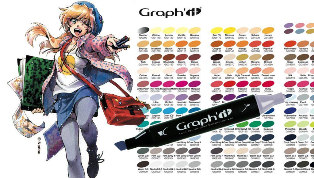 Les feutres GRAPH'IT Marker mangadraft blog banner 1200 feutres graphit