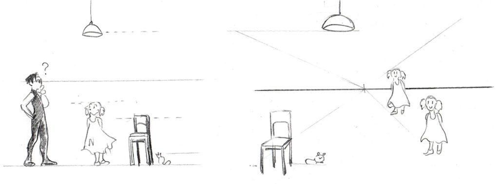 exemple ligne d'horizon - dessin en perspective