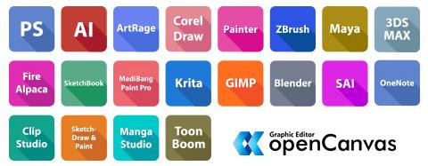 compatibilité logiciels de dessin xp-pen artist 13.3 pro