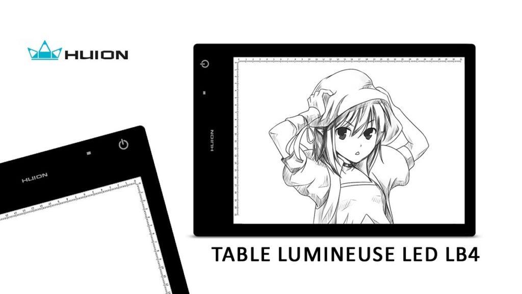 Test : La table lumineuse HUION LB4 LED ban mk 1200 675 huionlb4