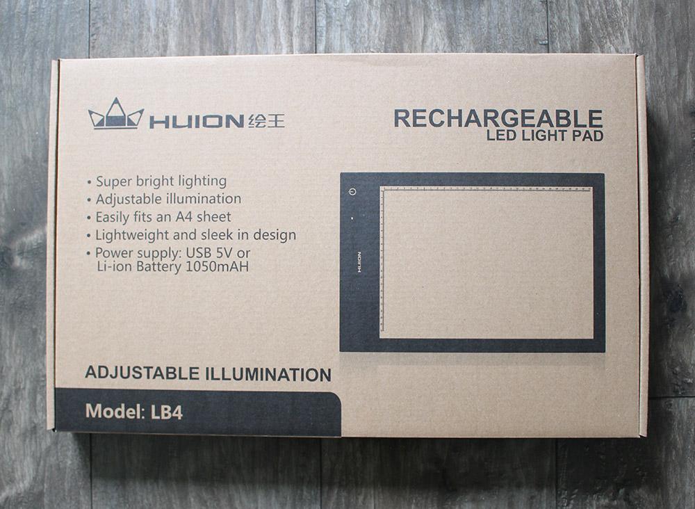 packaging de la table lumineuse Huion LB4