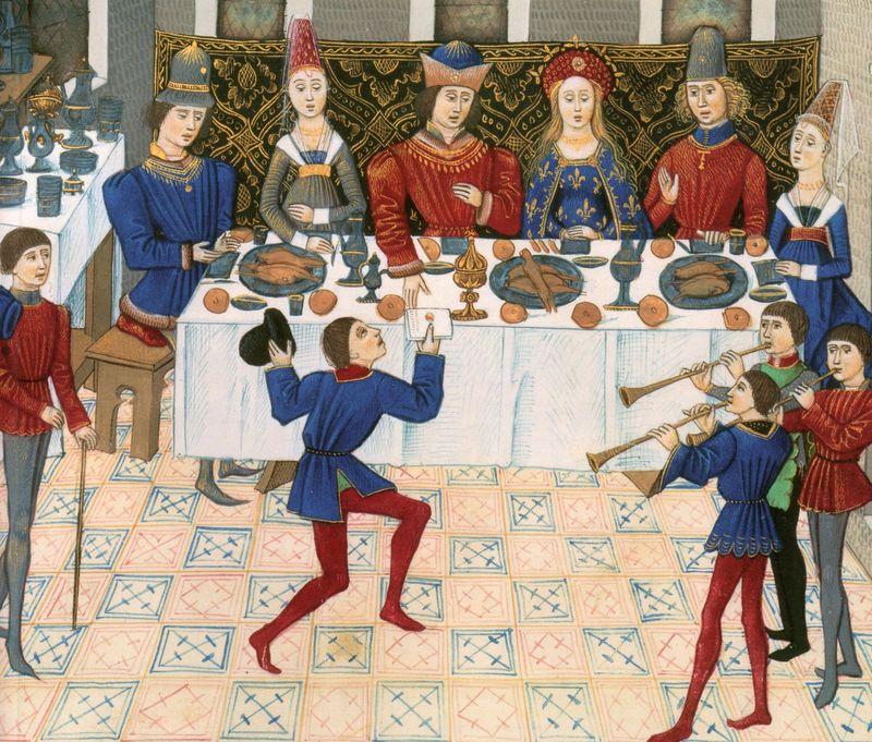 Au moyen-âge, les règles pour dessiner en perspective n'étaient pas encore formalisées...