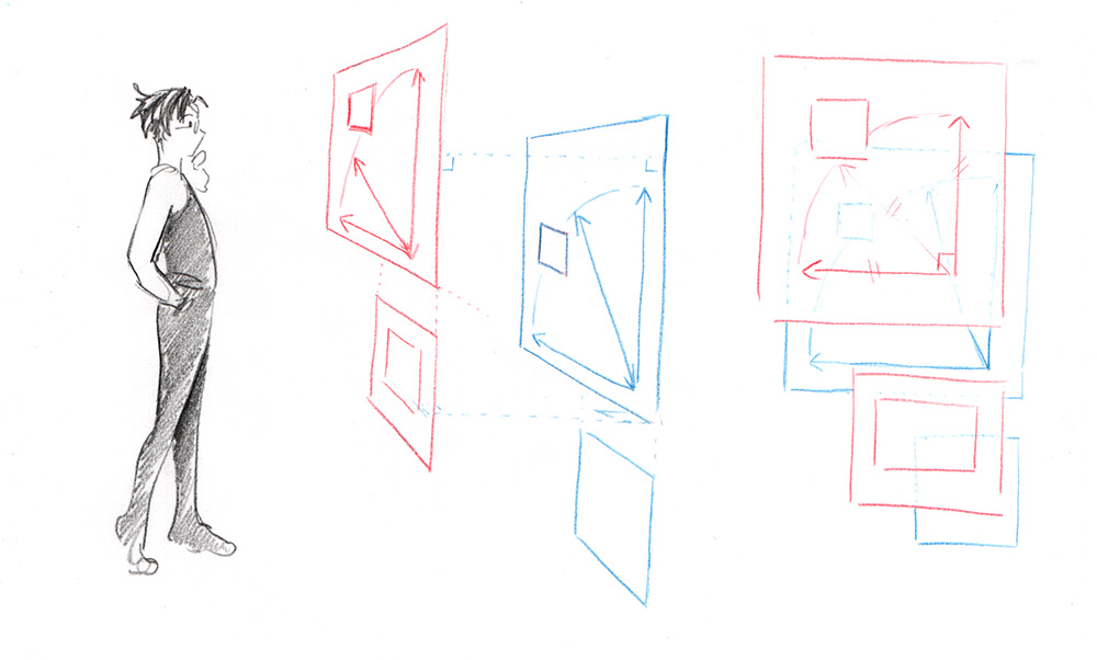 Exemples de plans parallèles avec Drafty