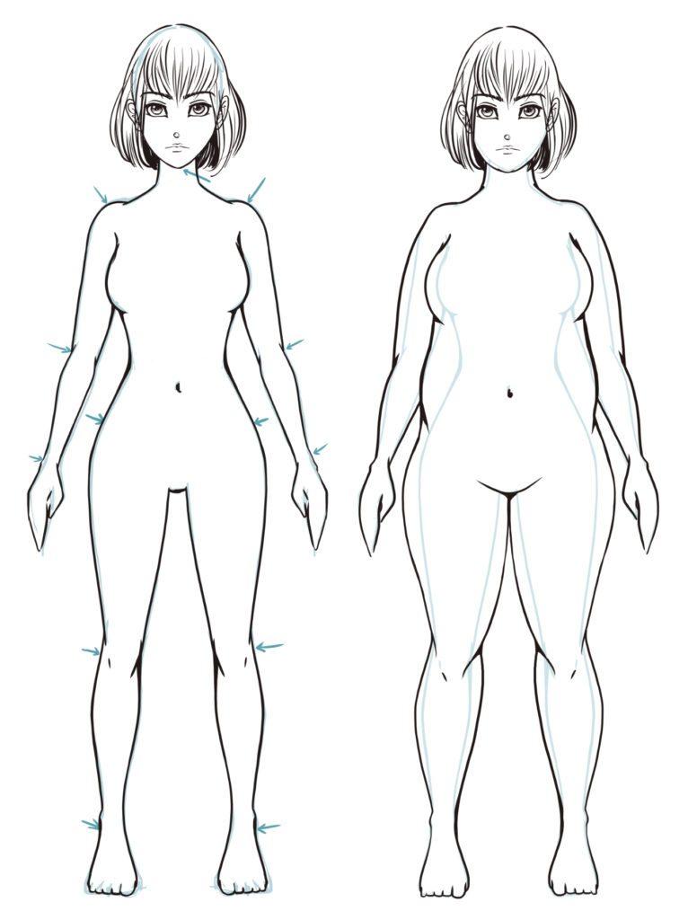 Dessiner des physiques différents : le surpoids (femme)