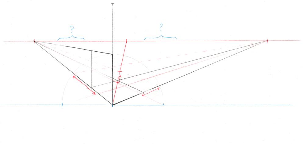 Comment construire approximativement une grille en 3 dimensions dans une perspective à 2 points de fuite.