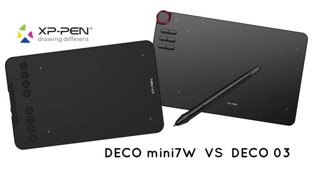 Comparatif : XP-PEN Deco mini7W VS XP-PEN Deco 03 ban mk 1200 675 xppen decomini7wvsdeco03