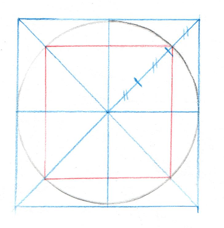 Tracé d'un cercle inscrit dans un carré