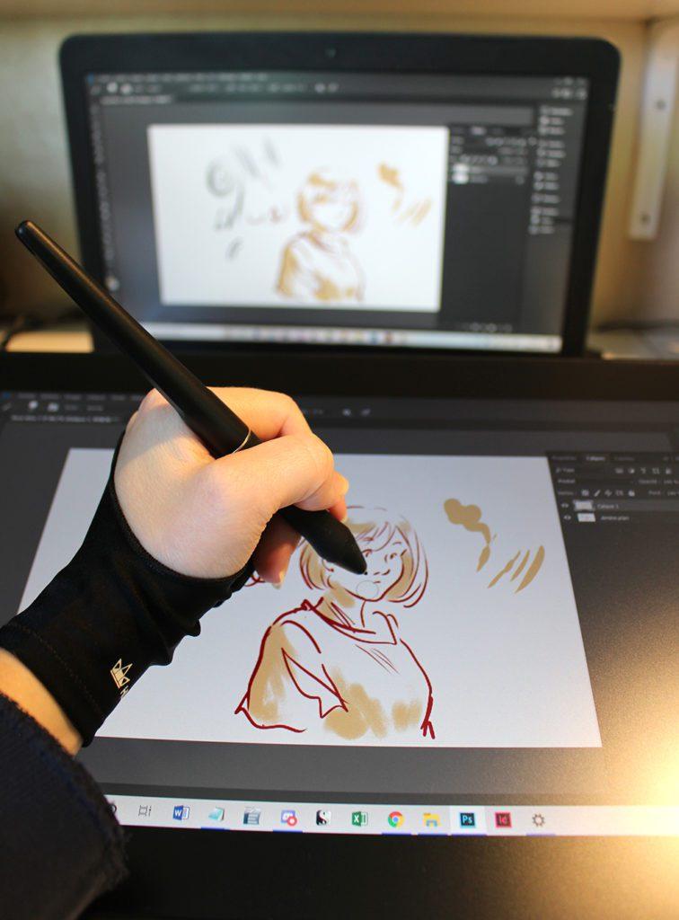 tests  de dessin sur la tablette graphique à écran Kamvas 16 (2021)