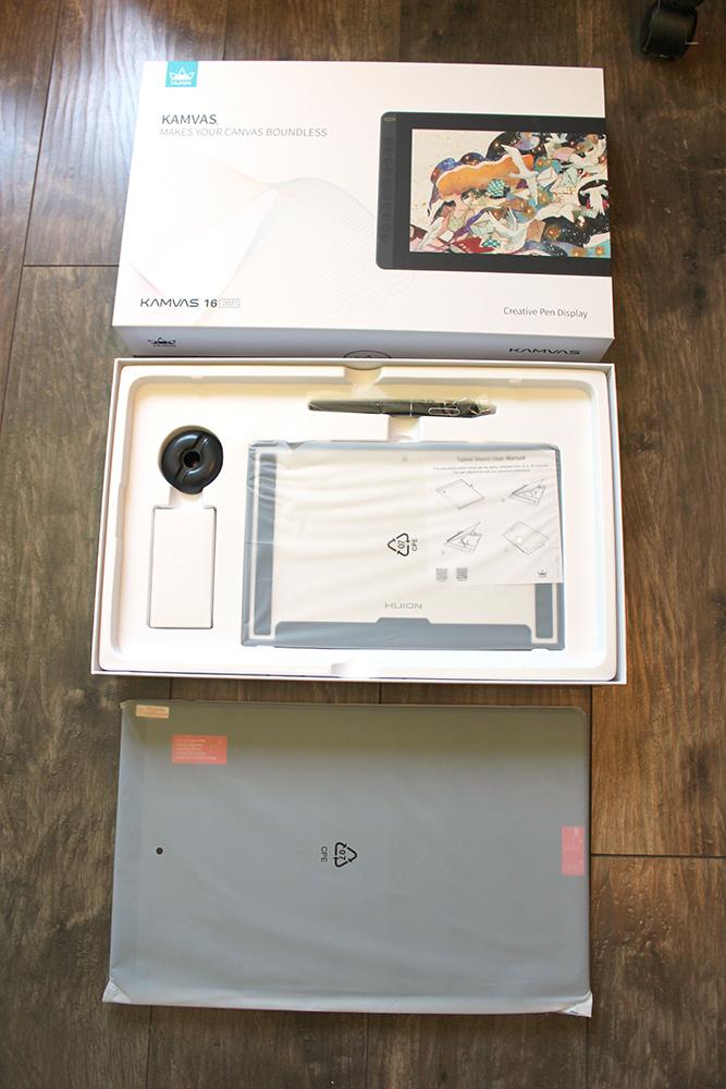 Unboxing de la tablette graphique à écran Kamvas 16 (2021)
