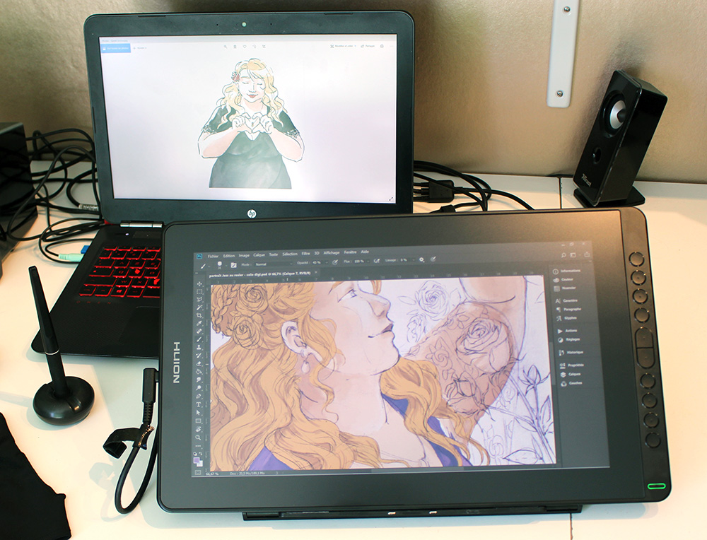 La tablette graphique à écran Kamvas 16 (2021) de chez Huion