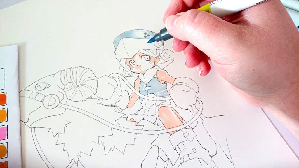 exemple de colorisation avec Neopiko 2