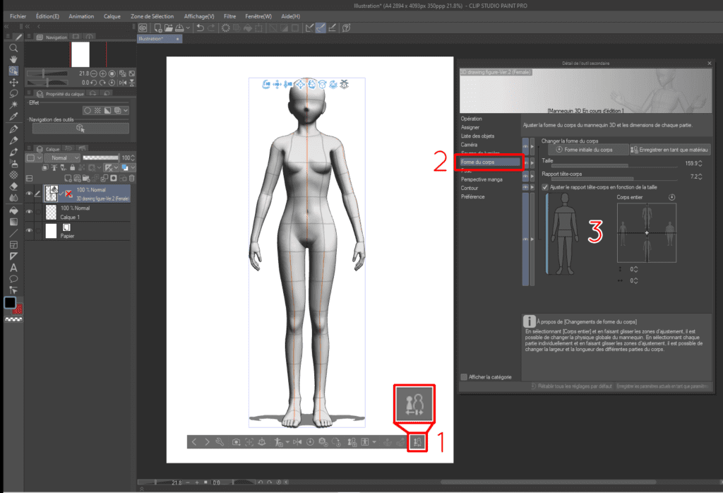 Comment utiliser les mannequins 3D sur CLIP STUDIO PAINT 15