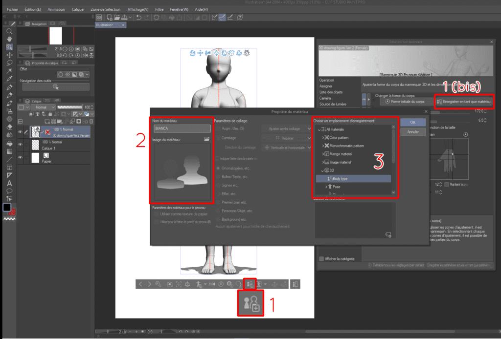Comment utiliser les mannequins 3D sur CLIP STUDIO PAINT 16