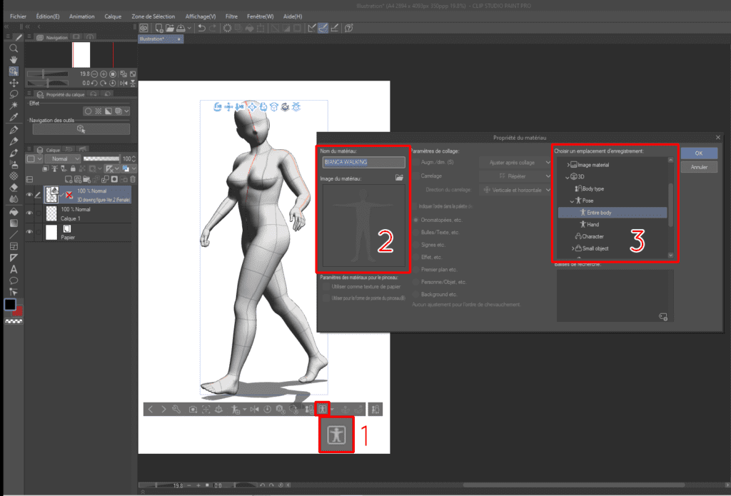 Comment utiliser les mannequins 3D sur CLIP STUDIO PAINT 17