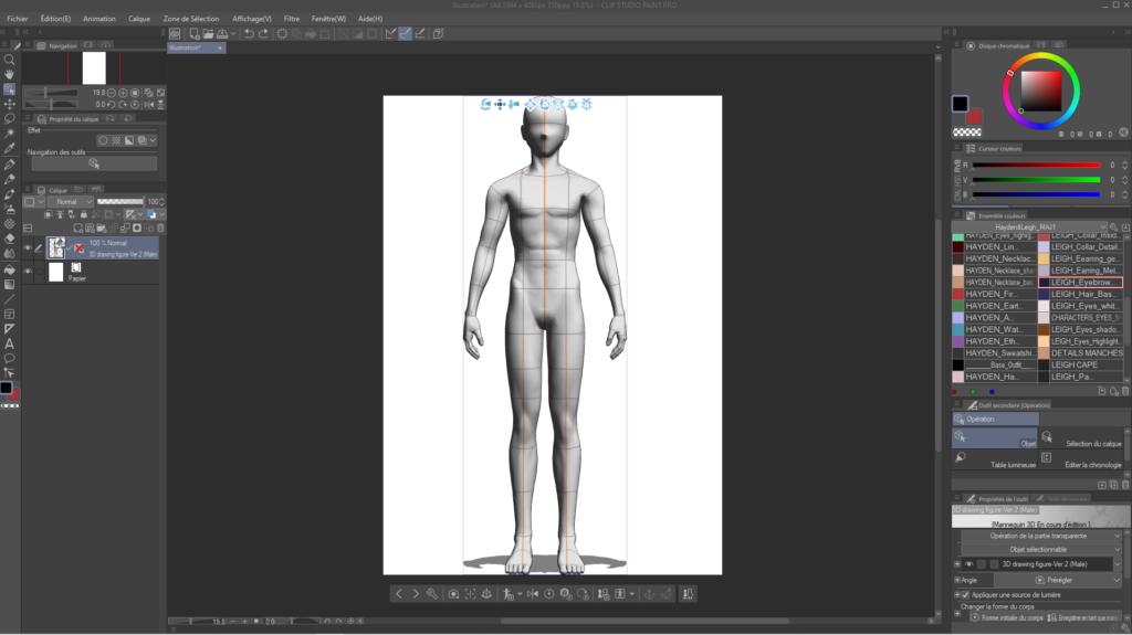 Comment utiliser les mannequins 3D sur CLIP STUDIO PAINT 2