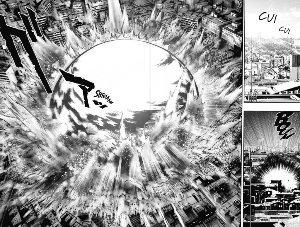 Explosion manga : exemple One Punch Man