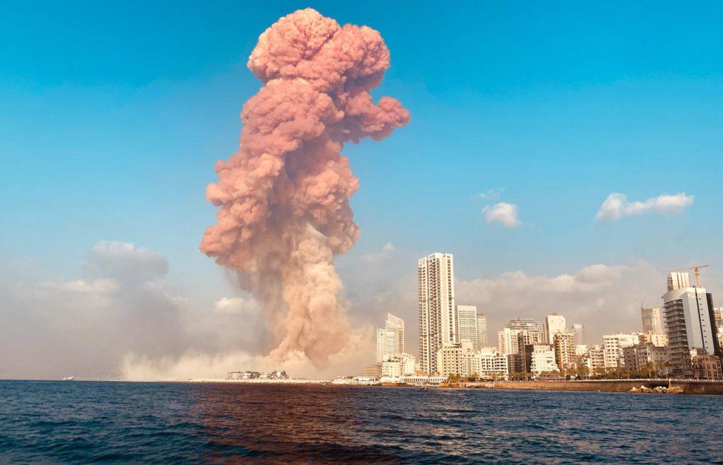 Explosion : nuage de fumée