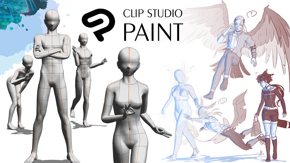 Comment utiliser les mannequins 3D sur CLIP STUDIO PAINT ban mk 1200 675 mannequins3D poses