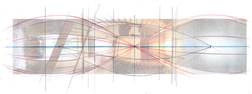 Le dessin en perspective : explorer les limites lignes panoramique