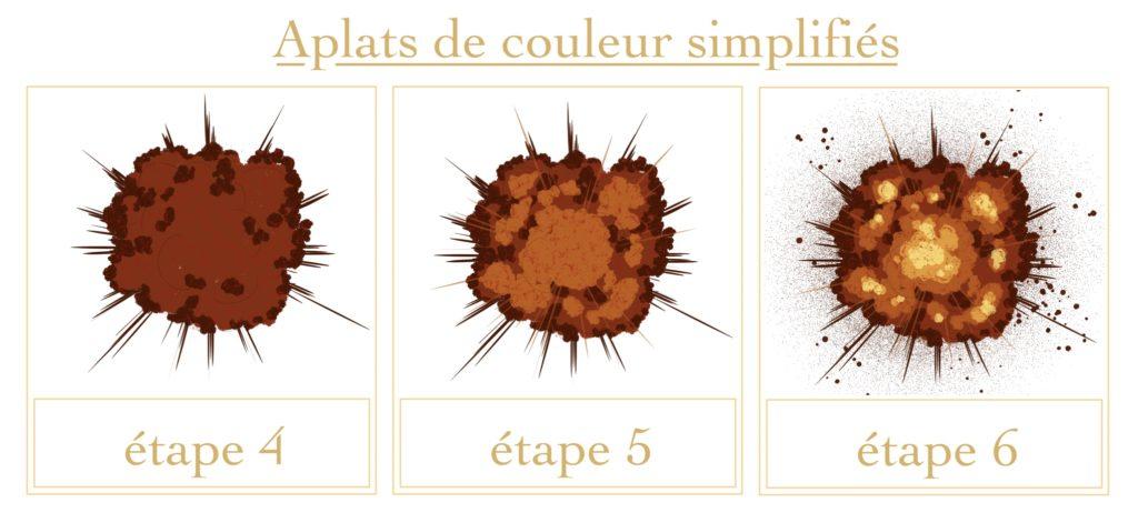 Tutoriel explosion : aplats de couleur simplifiés