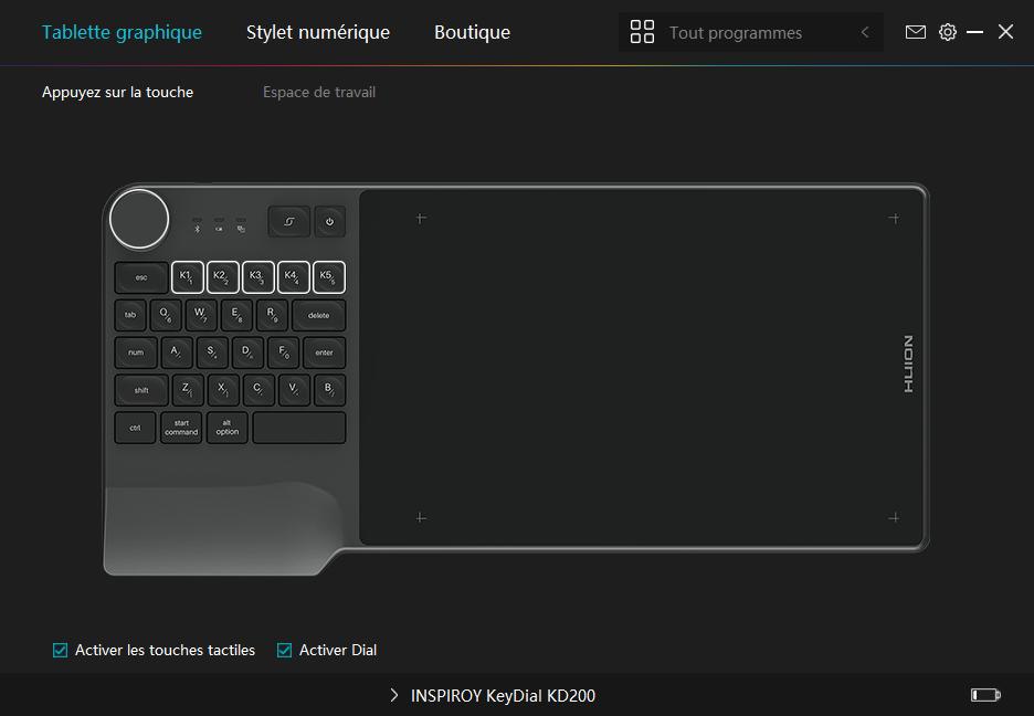 Test : La tablette HUION Inspiroy Keydial KD200 a