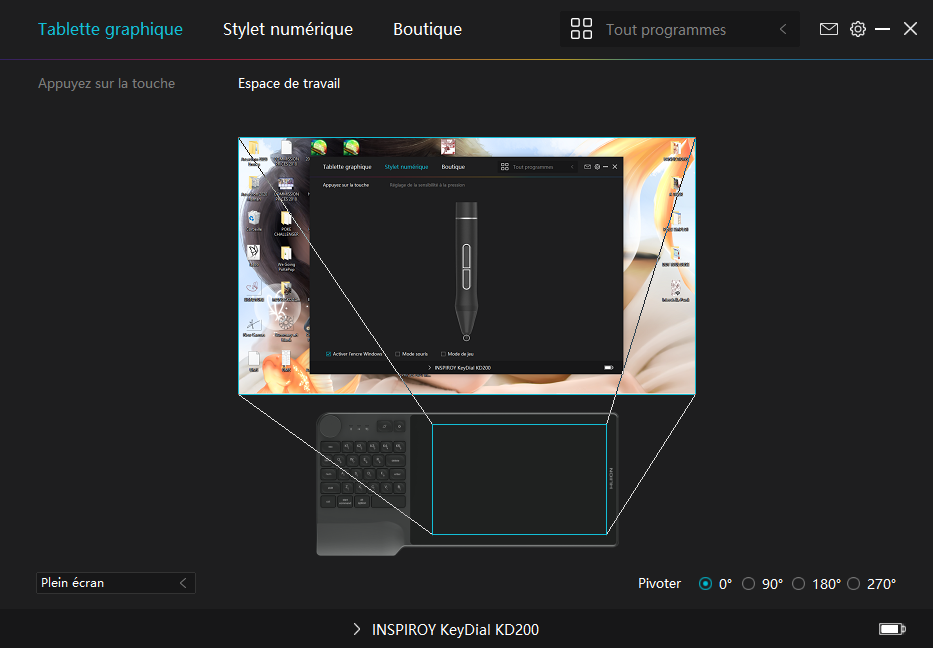 Test : La tablette HUION Inspiroy Keydial KD200 b